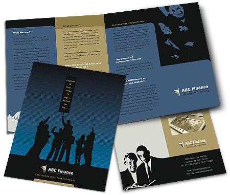 Online Brochures One Fold printing Financial Advisor