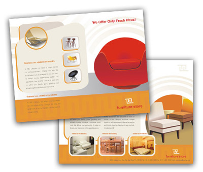 Online Single Page Brochures printing furniture stores