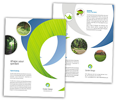 Online Single Page Brochures printing Landscape Design