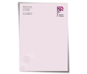 Letterhead printing Fashion Designer