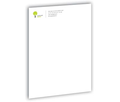 Online Letterhead printing Gardening Consultant