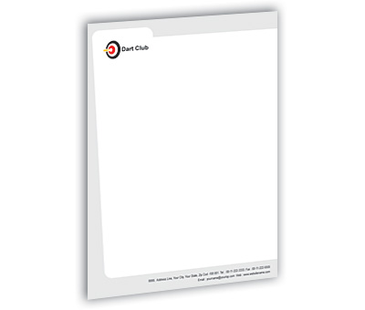 Online Letterhead printing Dart Club