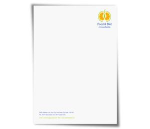 Letterhead printing Health Fitness Diet