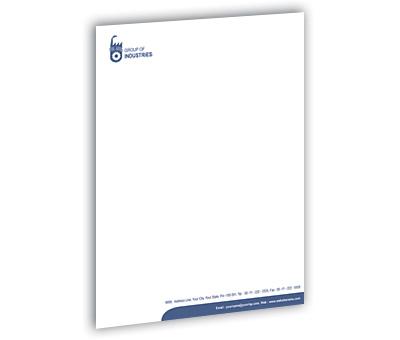 Online Letterhead printing Industrial Units