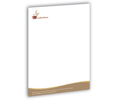 Online Letterhead printing Coffee Shop