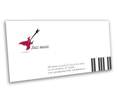 Online Envelope printing Jazz Band