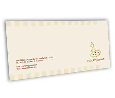 Online Envelope printing Pizza Corner