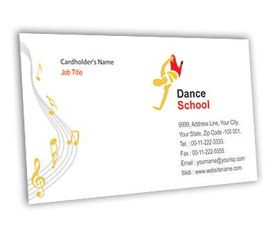 Online Business Card printing Dance School