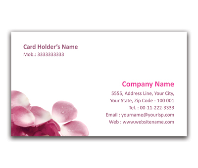 Online Flexi Business Card printing Roses