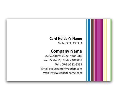 Online Flexi Business Card printing Pajama Stripes