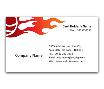 Online Flexi Business Card printing Sports Shops