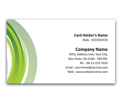 Online Flexi Business Card printing Grey Circles