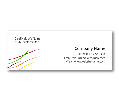 Online Mini Business Cards printing Thread Art