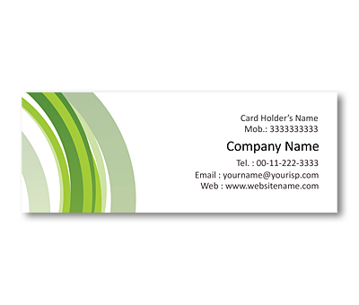 Online Mini Business Cards printing Green Line Background