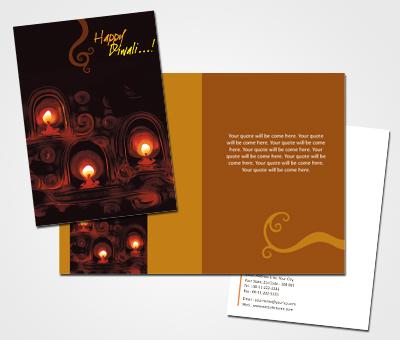 Online Greeting Card printing Diwali Diya