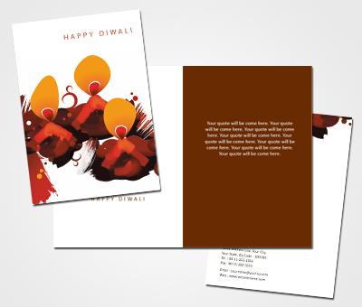 Online Greeting Card printing Diwali Invites