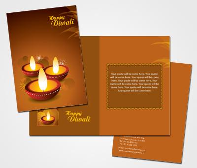 Online Greeting Card printing Diwali Clay Lamp