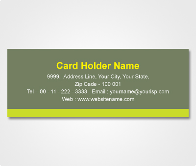 Online Address Labels printing Deep Green Sticker with Light Green stripe