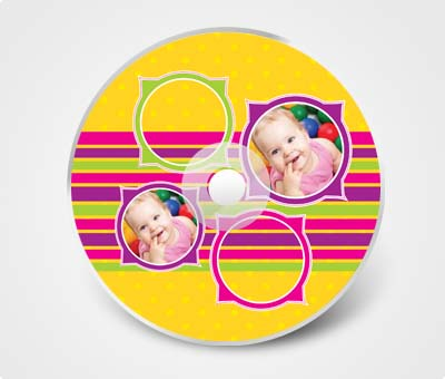 Online CD / DVD Stickers printing Baby Photos