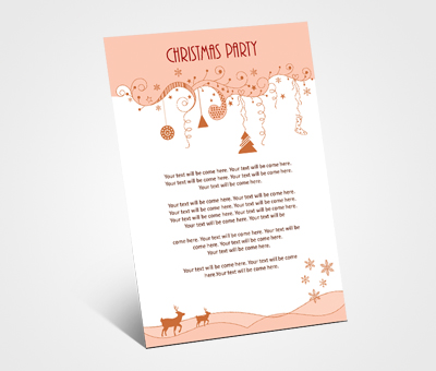 Online Invitations printing Christmas Dinner