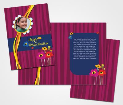 Online Greeting Card printing Rakshabandhan Card