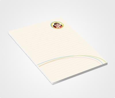 Online Notepads printing Rainbow Theme