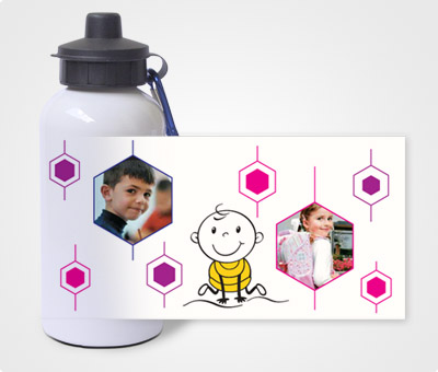 Online Water Bottles printing Pentagon Style