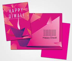Greeting Card printing Diwali Festival