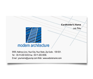 Business Card printing Architecture Drawings