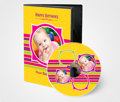 Online CD / DVD Covers printing Happy Birthday Baby