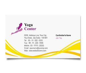 Business Card printing Yoga Fitness