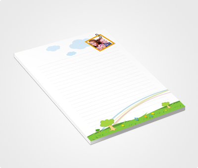 Online Notepads printing Garden and Kids