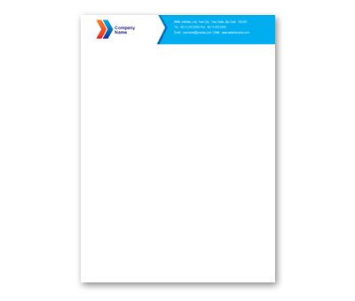 Online Letterhead printing Air Travel Company