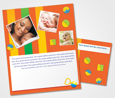 Online Note Cards printing Baby Shower Invitations