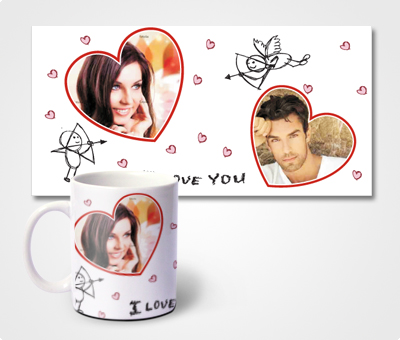 Online Mugs printing Valentines Special