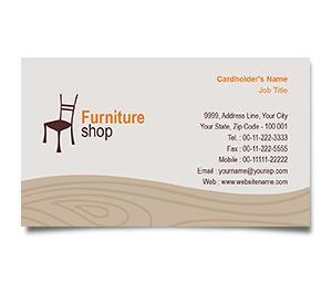 Business Card printing Furniture Bazaar