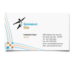 Business Card printing Gymnasium Club