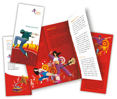 Online Brochures Two Fold printing Dance Schools