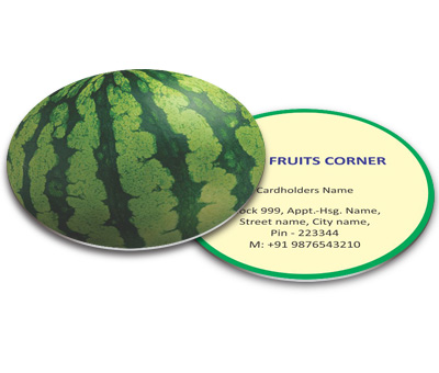 Online Business Card - Die Cut printing Fruit Mart