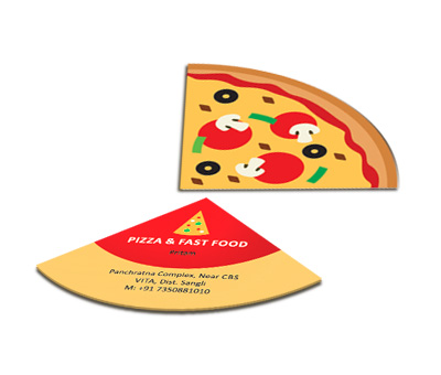Online Business Card - Die Cut printing Pizza Outlet