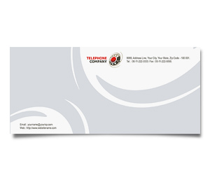 Envelope printing Telephone Company