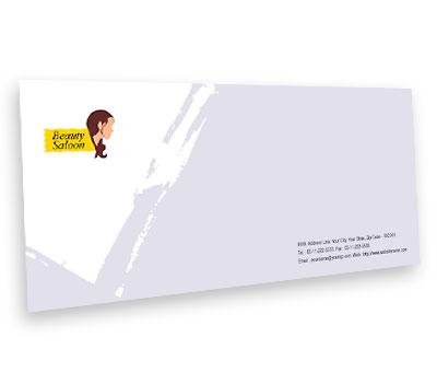 Online Envelope printing Spa and Hair Salon