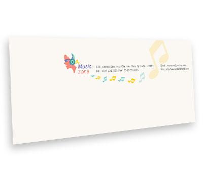 Online Envelope printing Music Zone