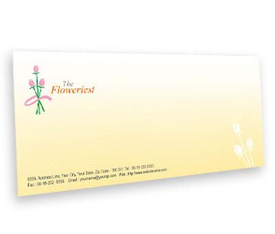 Online Envelope printing Florist Shop
