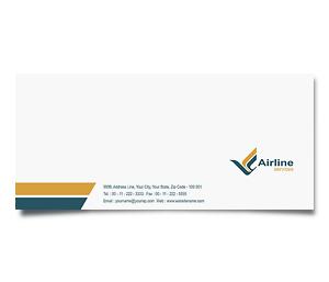 Envelope printing Air Lines Travel