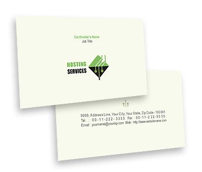 Online Business Card printing Website Hosting Service
