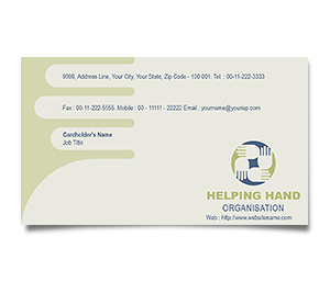 Business Card printing Social Services
