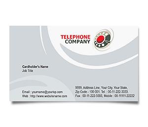 Business Card printing Telephone Company