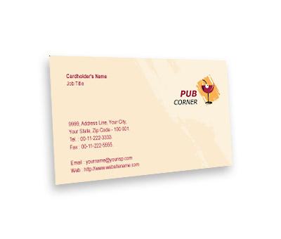 Online Business Card printing Pub Corner