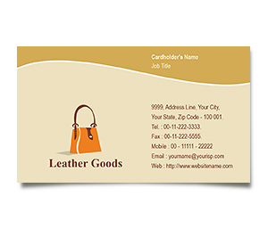 Business Card printing Leather Fashion